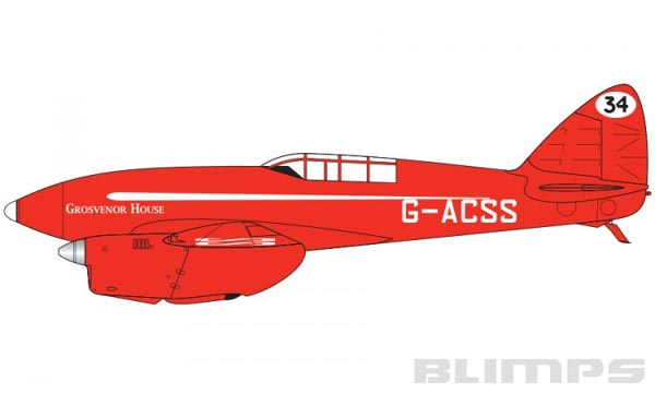 De Havilland DH.88 Comet - 1/72 - Airfix A01013B  - BLIMPS COMÉRCIO ELETRÔNICO