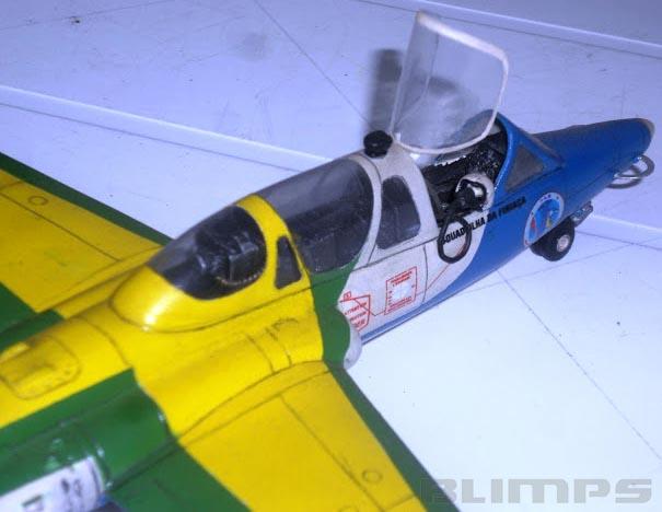 Fouga Magister T-24 Esquadrilha da Fumaça - 1/48 - GIIC  - BLIMPS COMÉRCIO ELETRÔNICO