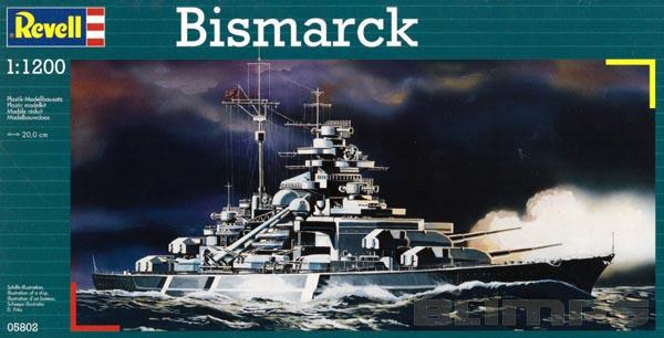 Bismarck - 1/1200 - Revell 05802  - BLIMPS COMÉRCIO ELETRÔNICO