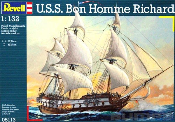 U.S.S. Bon Homme Richard - 1/132 - Revell 05113  - BLIMPS COMÉRCIO ELETRÔNICO