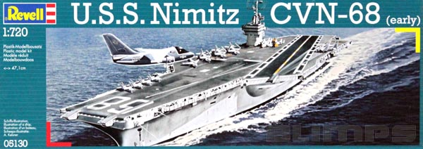 U.S.S. Nimitz CVN-68 (early) - 1/720 - Revell 05130  - BLIMPS COMÉRCIO ELETRÔNICO