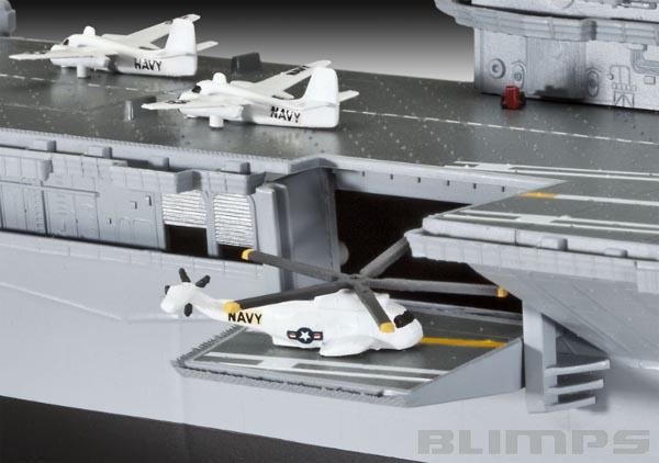 U.S.S. Hornet (CVS-12) - 1/530 - Revell 05121  - BLIMPS COMÉRCIO ELETRÔNICO