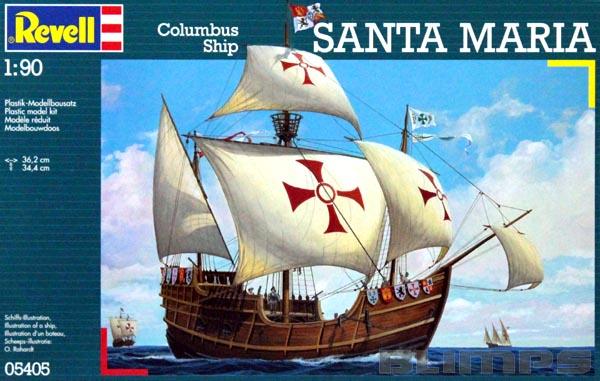 Caravela Santa Maria - 1/90 - Revell 05405  - BLIMPS COMÉRCIO ELETRÔNICO