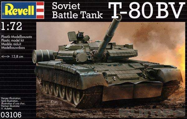 Tanque Soviético T-80 BV - 1/72 - Revell 03106  - BLIMPS COMÉRCIO ELETRÔNICO