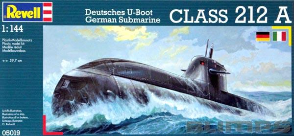 Submarino Alemão Classe 212 A - 1/144 - Revell 05019  - BLIMPS COMÉRCIO ELETRÔNICO