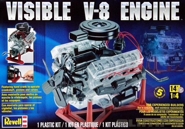 Motor V-8 móvel com interior visível - 1/4 - Revell 85-8883  - BLIMPS COMÉRCIO ELETRÔNICO