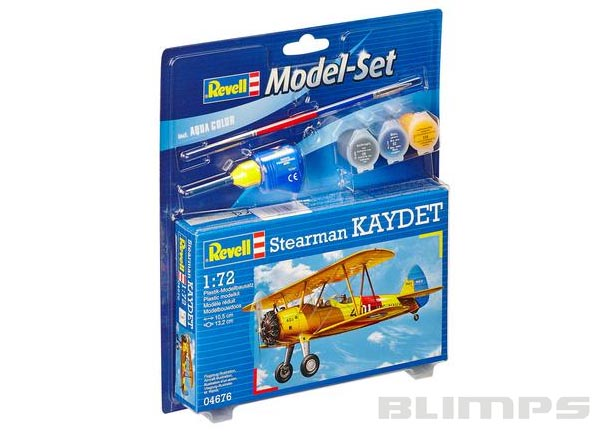 Model-Set Boeing Stearman Kaydet - 1/72 - Revell 64676  - BLIMPS COMÉRCIO ELETRÔNICO