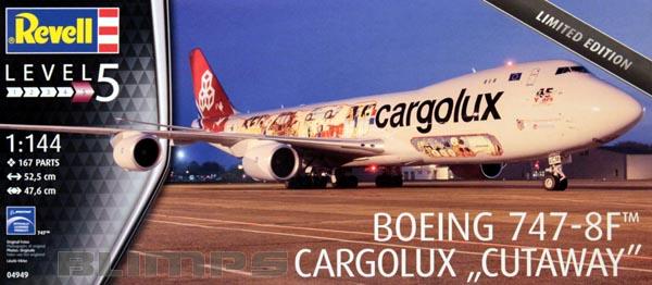 "Boeing 747-8F Cargolux ""Cutaway"" - 1/144 - Revell 04949  - BLIMPS COMÉRCIO ELETRÔNICO"