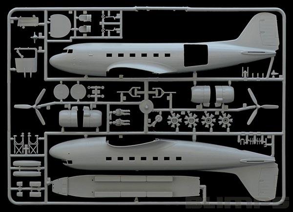 C-47 Skytrain - 1/72 - Italeri 127  - BLIMPS COMÉRCIO ELETRÔNICO