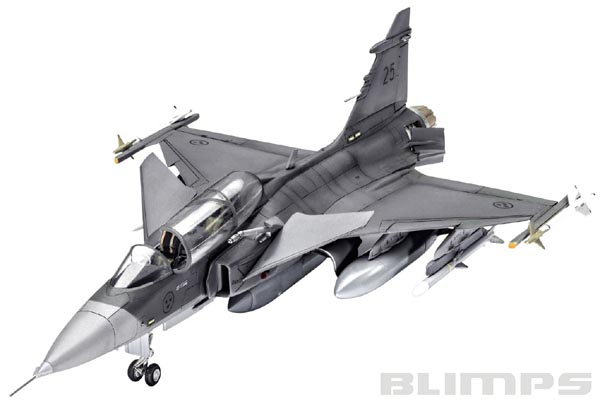 Saab JAS-39D Gripen Twin Seater - 1/72 - Revell 03956  - BLIMPS COMÉRCIO ELETRÔNICO