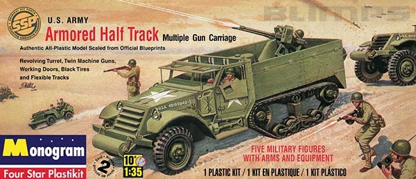 Monogram Armored Half Track - 1/35 - Revell 85-0034  - BLIMPS COMÉRCIO ELETRÔNICO