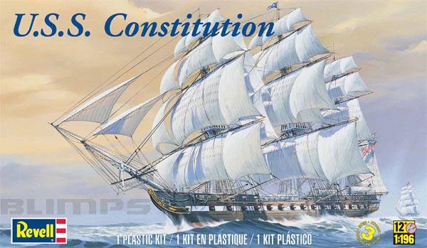 U.S.S. Constitution - 1/196 - Revell 85-5404  - BLIMPS COMÉRCIO ELETRÔNICO