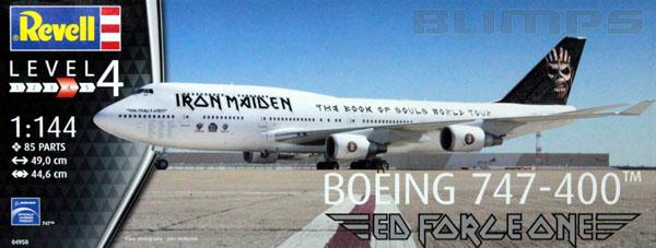 Boeing 747-400 Iron Maiden - 1/144 - Revell 04950  - BLIMPS COMÉRCIO ELETRÔNICO