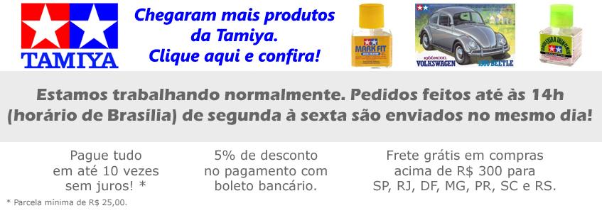 Clique aqui e confira os itens da Tamiya que acabaram de chegar!