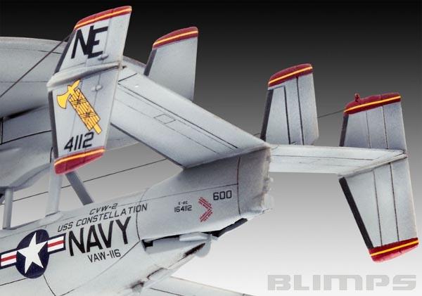 Grumman E-2C Hawkeye - 1/144 - Revell 03945  - BLIMPS COMÉRCIO ELETRÔNICO