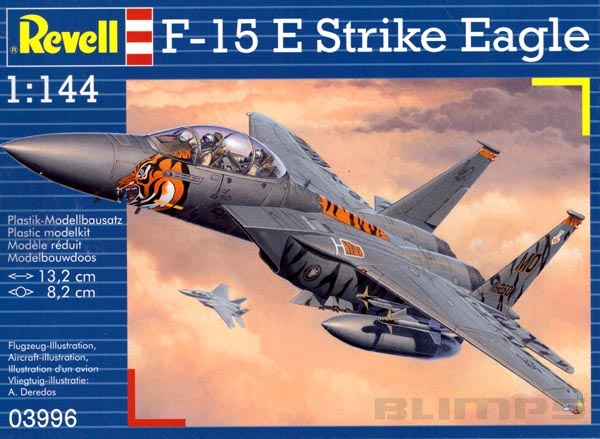 F-15E Strike Eagle - 1/144 - Revell 03996  - BLIMPS COMÉRCIO ELETRÔNICO