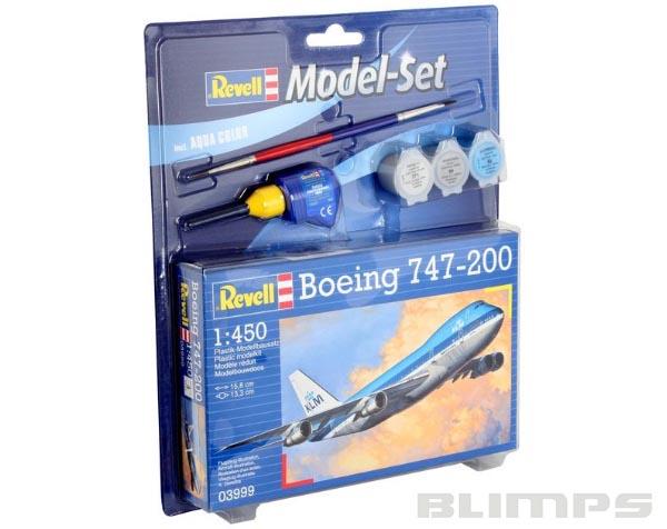 Model-Set Boeing 747-200 - 1/450 - Revell 63999  - BLIMPS COMÉRCIO ELETRÔNICO