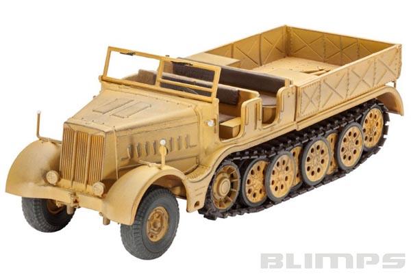 Veículo semilagarta Sd.Kfz. 9 FAMO - 1/72 - Revell 03141  - BLIMPS COMÉRCIO ELETRÔNICO