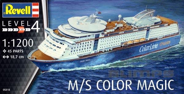 M/S Color Magic - 1/1200 - Revell 05818  - BLIMPS COMÉRCIO ELETRÔNICO