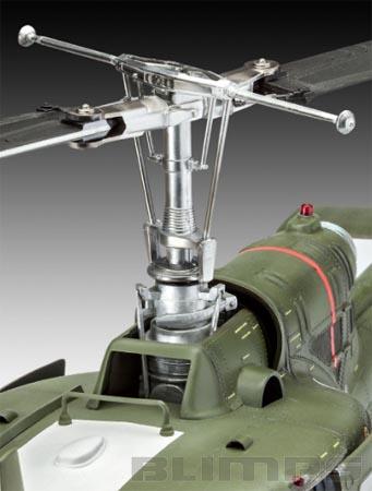 """Bell UH-1 """"Huey"""" - 1/24 - Revell 04905  - BLIMPS COMÉRCIO ELETRÔNICO"""
