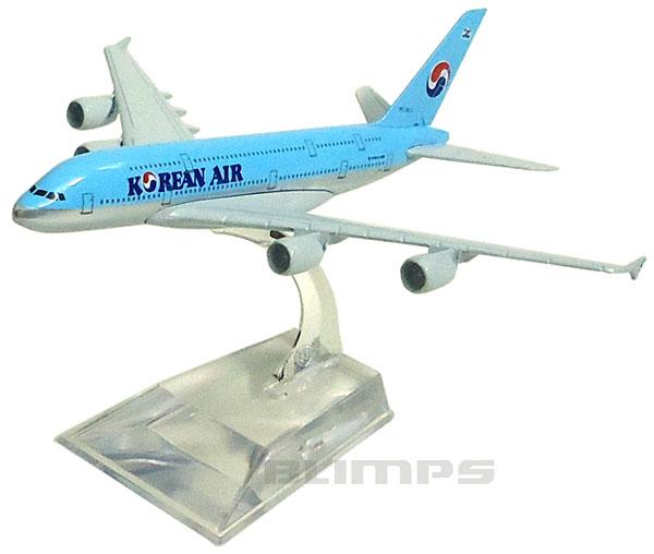 Miniatura Airbus A380-800 Korean Air - 16 cm  - BLIMPS COMÉRCIO ELETRÔNICO
