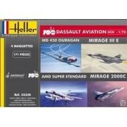 100 Anos da Dassault Aviation (4 modelos) - 1/72 - Heller 52320