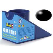Tinta Acrílica Revell Aqua Color Preto Seda - Revell 36302