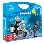 Playmobil Maleta - Polícia com Motocicleta e Bandido - 5891