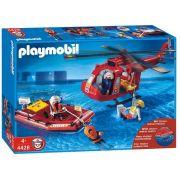 Playmobil - Bote e Helicóptero de Resgate - 4428