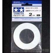 Fita adesiva para curvas (Masking Tape) 2 mm - Tamiya 87177