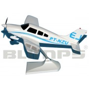 Maquete Piper/Neiva EMB-712 Tupi PT-NZU - 22 cm