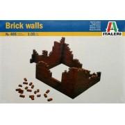 Brick Walls - Paredes de tijolos - WWII - 1/35 - Italeri 405