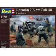 Canhão anti-tanque PaK 40 7,5 cm e figuras de soldados - 1/72 - Revell 02531