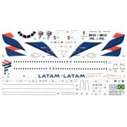 Decalque Airbus A320-214 – PR-MHX – LATAM Airlines Brasil 1/144 - CCS-AC144-TAM-A320-2