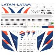 Decalque Airbus A350-941 – PR-XTE – LATAM Airlines Brasil 1/144 - CCS-AC144-TAM-A359-1