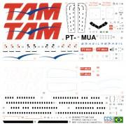 Decalque Boeing 777-32WER – PT-MUA – TAM 1/144 - CCS-AC144-TAM-B773-1