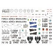 Decalque C-130 FAB versões camufladas 1/72 - FCM Rio 72003