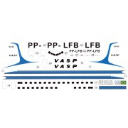 Decalque Douglas DC-6C – PP-LFB – VASP 1/144 - CCS-AC144-VSP-DC6-1