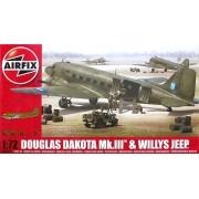 Douglas Dakota Mk.III e Willys Jeep - 1/72 - Airfix A09008