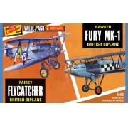 Fairey Flycatcher e Hawker Fury Mk.1 - 1/48 - Lindberg HL441