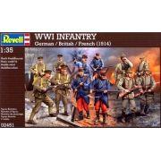 Figuras de Infantaria da Primeira Guerra Mundial (1914) - 1/35 - Revell 02451