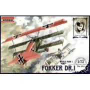Fokker DR.I - 1/72 - Roden 010