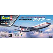 Gift Set Boeing 747-100 - 50° Aniversário - 1/144 - Revell 05686