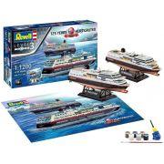 Gift Set Hurtigruten 125th Anniversary - 1/1200 - Revell 05692