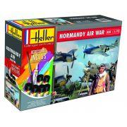 Gift Set Normandy Air War (P-51, Fw190 e figuras) - 1/72 - Heller 53014