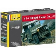 Jeep Willis e trailer - 1/35 - Heller 81105