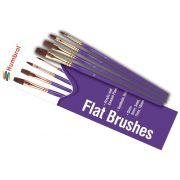 Jogo de 4 pincéis Flat Brush Pack - Humbrol AG4305
