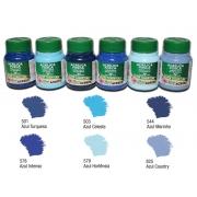 Kit A com 6 tintas acrílicas foscas Acrilex - Acrilex 035401