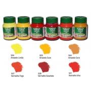 Kit B com 6 tintas acrílicas foscas Acrilex - Acrilex 035402