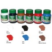 Kit C com 6 tintas acrílicas foscas Acrilex - Acrilex 035403